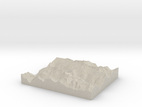 Model of Cascade Pass in Sandstone