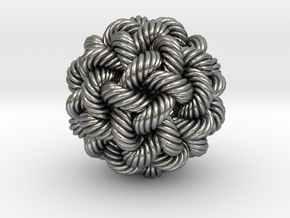 Rope Bead (XL) in Raw Silver