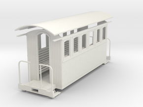 1/35 scale Passenger car (6 window)  in White Strong & Flexible