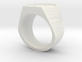 Graduate Ring Model Alt in White Strong & Flexible