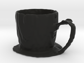 Coffee mug #7 XL - Melted in Black Strong & Flexible