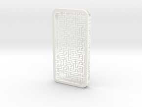 IPhone 4/4S - Maze Case in White Strong & Flexible Polished