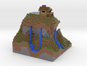 House of the Wise Man via Mineways! in Full Color Sandstone