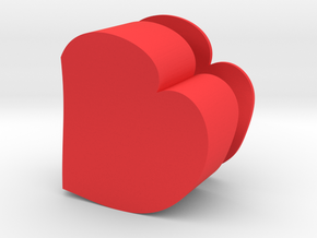 Heart Jewelry Box in Red Strong & Flexible Polished