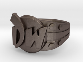 DW initials Ring size 6 3/4 US in Stainless Steel