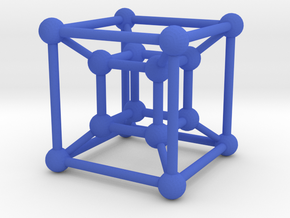 Tesseract in Blue Strong & Flexible Polished
