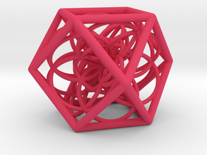 Flower Cube in Pink Strong & Flexible Polished