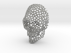 Voronoi Skull Pendant small  in Metallic Plastic