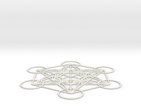 Metatron's cube in White Strong & Flexible