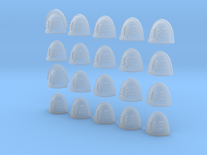 Winged Lightning - 20, 28mm Shoulder Pads in Frosted Ultra Detail