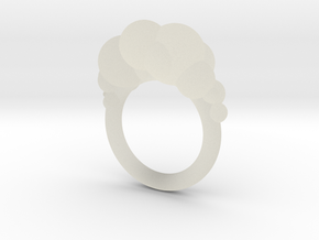 Cloud Ring size 6  in Transparent Acrylic