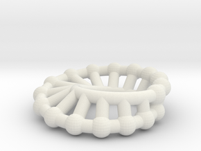 moebius ring | scaled line 24x16 in White Strong & Flexible