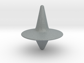 Spinning Top in Polished Metallic Plastic