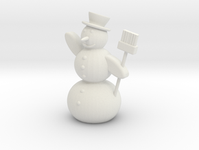 Snowman Mesh (repaired) in White Strong & Flexible
