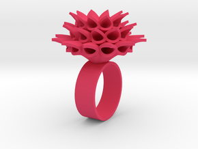 Little Bloom Ring  in Pink Strong & Flexible Polished