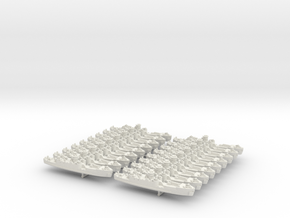 1/1200 LCI(L) (Round Bridge - Bow Ramps) (x18) in White Strong & Flexible
