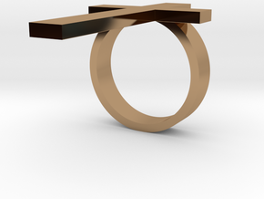 cross ring in Polished Brass