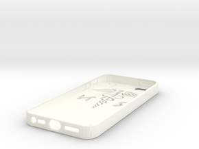 iPhone 5 case with the RN logo in White Strong & Flexible Polished