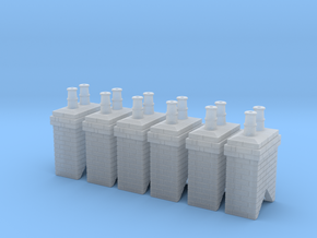 Chimney Stack 1 X 6 N Scale in Frosted Ultra Detail