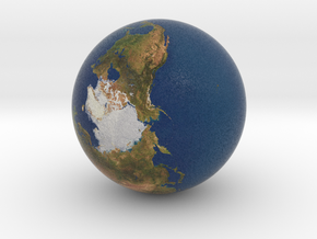 "1"" Earth globe for tabletop space games in Full Color Sandstone"