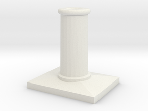 R003 SS Chimney Pots - 4mm in White Strong & Flexible