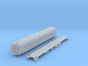 N Scale RDG MU 'Blueliner' Coach NO A/C in Frosted Ultra Detail