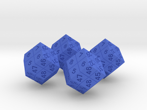 4 Player Start Order Die - 4 Pack in Blue Strong & Flexible Polished