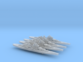 1/3000 UK Lion class battleship (1939) x4 in Frosted Ultra Detail