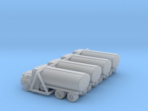 Mack Tank Truck - Set of 4 - Nscale in Frosted Ultra Detail