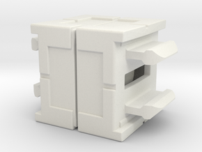 Rokenbok Axle Block in White Strong & Flexible