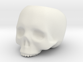 Skull Pot V3 - H80MM in White Strong & Flexible