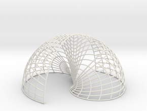 Yin Yang Shell Mesh in White Strong & Flexible