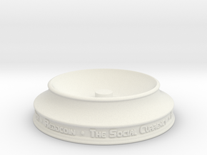 Reddcoin Spherical Logo - Stand in White Strong & Flexible