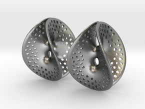 Small Perforated Chen-Gackstatter Thayer Earring in Raw Silver