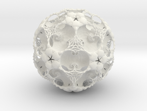 IcosaBall Detail 9 in White Strong & Flexible