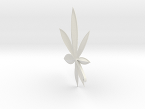 Cannabis Charm in White Strong & Flexible