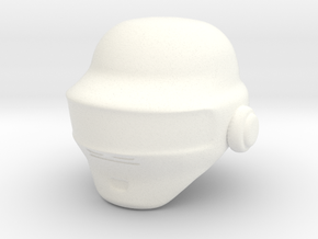 Punk Helmet (prototype) in White Strong & Flexible Polished