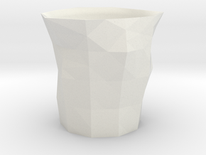 Polygon Little Cup in White Strong & Flexible