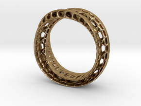 Twistedbond ring 21.2mm in Polished Gold Steel