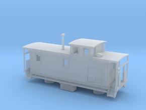 DMIR K1 Steelside Caboose Late - Nscale in Frosted Ultra Detail