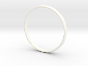 Bangle3 in White Strong & Flexible Polished