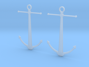 Anchor Earrings in Frosted Ultra Detail