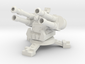 28mm Greenskin Quad AA Turret in White Strong & Flexible