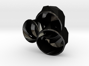 Meshmixrepair Planter 5414 in Matte Black Steel