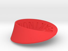 Deakin University Möbius Strip | 2mm in Red Strong & Flexible Polished