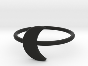 Midi Moon Ring by titbit in Black Strong & Flexible