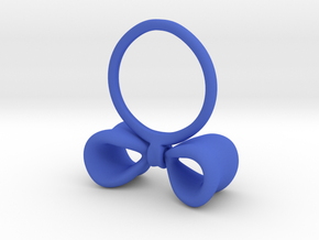 Bow ring in Blue Strong & Flexible Polished