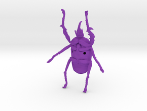 Giant Beetle - Goliath 8cm - Scarab in Purple Strong & Flexible Polished