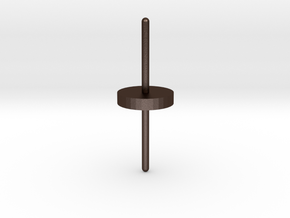 Spinning Top in Matte Bronze Steel