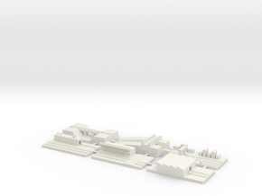 "1"" Building Set 5 - Railway in White Strong & Flexible"